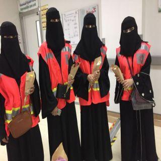 إدارة التطوع بهلال عسير تزور مستشفى محايل العام