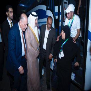 السفير السعودي لدى #الأردن يودع ضيوف خادم الحرمين الشريفين الحجاج الفلسطينيين من ذوي الشهداء.