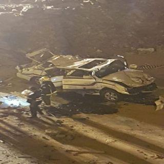 أصابة خمسة من عائلة واحدة بحادث إنقلاب في #الباحة