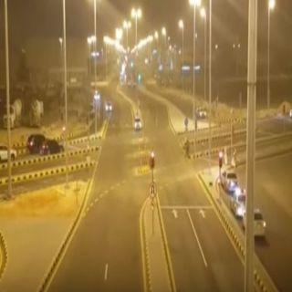 """#أمانة_الرياض تفتح أول تقاطع يعمل بنظام """"CFI"""""""