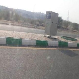 مرور عسير ينتهي من تركيب كاميرات رصد آلي جديدة في #بارق