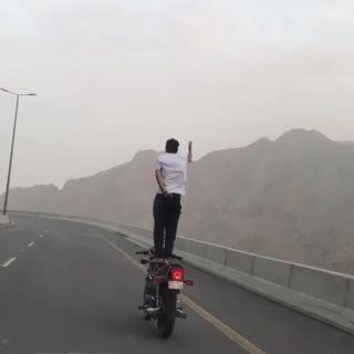 المرور القبض على قائد الدراجة النارية المتهور بطريق هدى #الطائف