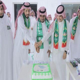 شاهد كيف أحتفلت بلدية #بارق بـ #اليوم_الوطني_88