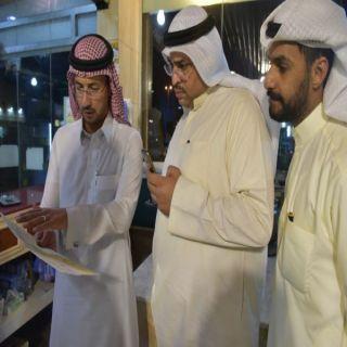 رئيس بلدية #طريق يستقبل رئيس التغذية والاعلام  بالهيئة الادارية والمالية بوزارة الدفاع الكويتية