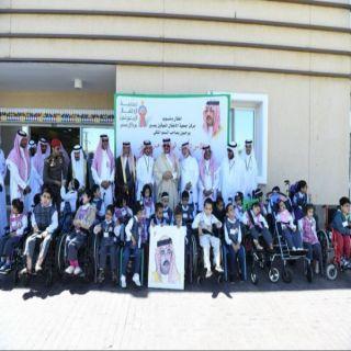 نائب أمير عسير يزور جمعية الأطفال المعوقين