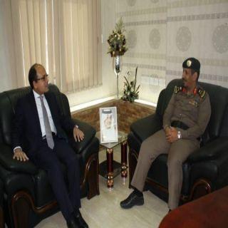 مُدير شرطة الشمالية يستقبل القنصل المصري  المستشار أحمد يوسف