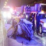 """""""الرياض"""" دهس شاحنة لـ(أفالون) يصرع مواطناً ويصيب 3 على طريق خريص"""