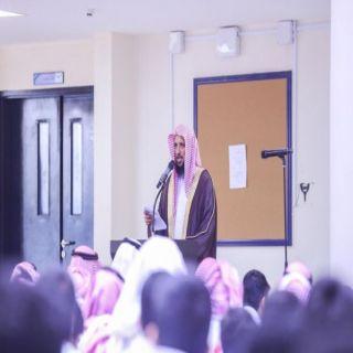 مدير تعليم #البكيرية يؤدي صلاة الاستسقاء مع طلاب مدرسة ثانوية الهلالية