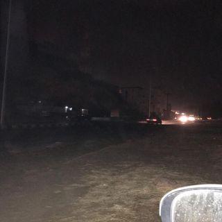 #بارق :طريق ثلوث المنظر يعود مرة أخرى إلى الإنقطاع الكهربائي والبارقي يوضح الأسباب
