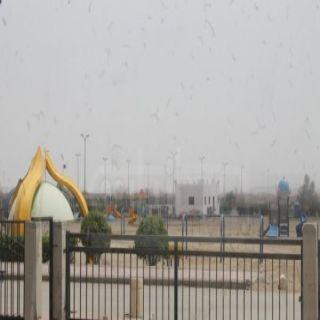 بلدية #بارق وبجهود حثيثة تعمل على إعادة تهيئة حديقة خبت آل حجري