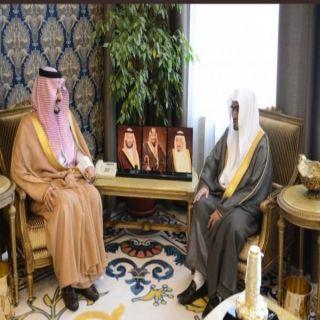 الأمير فيصل بن خالد يستقبل الشيخ المغامسي