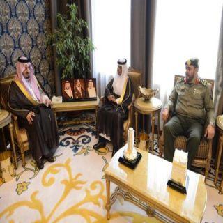 """أمير عسير يستقبل العميد """" بن عارم""""مُدير لجوازات المنطقة ويودع اللواء""""الخالدي"""