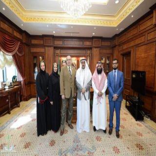 مُدير #جامعة_الملك_خالد يستقبل وفد جامعة  #سوانزي البريطانية