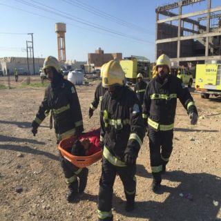 إصابة 4 في انهيار مبنى تحت الإنشاء في املج في فرضية للدفاع المدني
