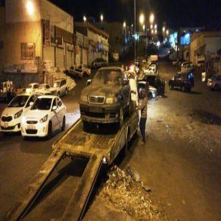 #أمانة_عسير تسحب أكثر من 50 سيارة تالفة من صناعية #أبها