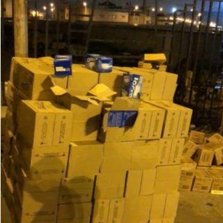 #أمانة_عسير تضبط 41 ألف عبوة أغذية فاسدة في إحدى مركبات النقل