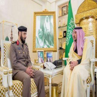 """أمير القصيم يستقبل اللواء """"السويكت """" بعدتكليفه مُديراً لشرطة المنطقة"""