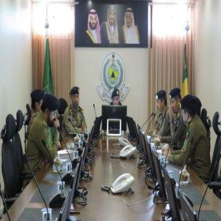 اللواء الصالح يترأس إجتماع الدفاع المدني بالمنطقة