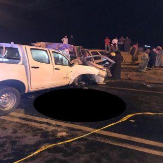 حادث تصادم بطريق الحفيرة صمخ يخلف 6 إصابات و5 وفيات