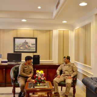 مُدير مدني #تبوك يستقبل مدير ادارة الشؤون المدنية بقيادة المنطقة