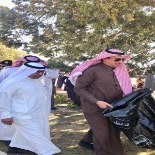"آل محضى يدشن مبادرة  "" #تنومة انظف و أجمل"""