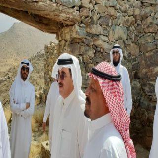 مُحافظ #المجاردة يزور قرية الخطوة التاريخية في المُحافظة