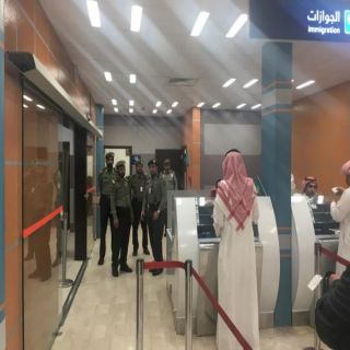 مدير جوازات عسير المكلف يتفقد جوازات مطار ابها الإقليمي