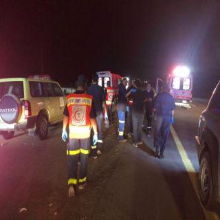 وفاة و(39) أصابة في حادث سير لحافلة ركاب بطريق القصيم المدينة