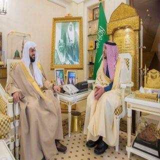 أمير القصيم يستقبل البهدل بمناسبة تكليفه رئيساً لمحكمة الأحوال الشخصية ببريدة