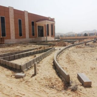 بلدية #بارق تُتابع أعمال إنشاء حديقة حضاري ثلوث المنظر