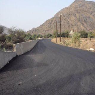 بلدية #المجاردة تُنهي اعمال سفلتة طريق الملاحة بتوجيه من أمين عسير