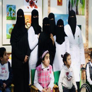 كلية الطب بـ #جامعة_الملك_خالد تزور مركز جمعية الأطفال المعوقين بعسير