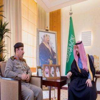 نائب أمير القصيم يستقبل مدير شرطة المنطقة العميد علي بن حسن بن مرضي