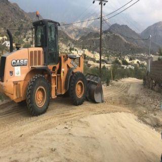 #بلدية بارق تعمل على لتهيئة طرق سدعامر ..والبارقي السفلتة ضمن خطة البلدية