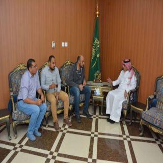 محافظ  محايل يلتقي وفدآ من شركة التقنيون السعوديون .(سعودي تك)