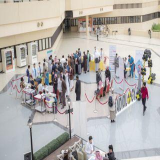 #جامعة_القصيم تنظم فعالية «يوم الغدة الدرقية» بالبهو الرئيس بالمليداء