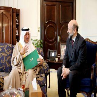 رئيس الوزراء الأردني يستقبل سفير المملكة لدى الأردن
