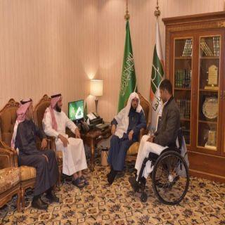 بر أبها تستقبل نائب رئيس مجلس الإدارة لجمعية طيبة للإعاقة الحركية