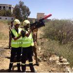 مدني الباحة يجري تدريبات لإستخدام بندقية الحبال لإنقاذ المحتجزين