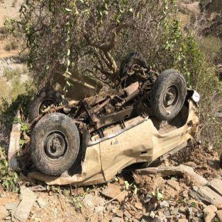 سقوط مركبة من علو منحدر صخري بعقبة حيلة آل مرضي يُجدد مطالب أهالي بـ#بحر_ابو_سكينة