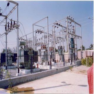 الكهرباء تُطلق التيار الكهربائي التجريبي بمحطة الكهرباء الفرعية بـ #بارق