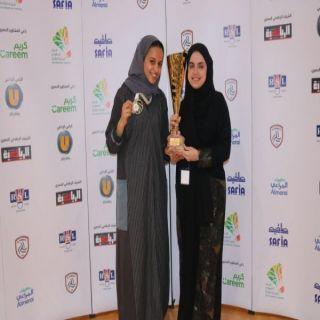 لاعبة المنتخب السعودي للريشة الطائرة رنا سعود تحصد المركز الأول