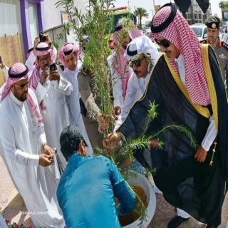 مُحافظ الخرج يُطلق مبادرة البيئة بزراعة (100.000 )شتلة
