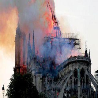 فيديو حريق كبير يلتهم #كاتدرائية_نوتردام في #فرنسا