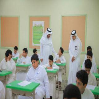 مدير #تعليم_البكيرية يتفقد سير أعمال الاختبارات في مدارس المحافظة