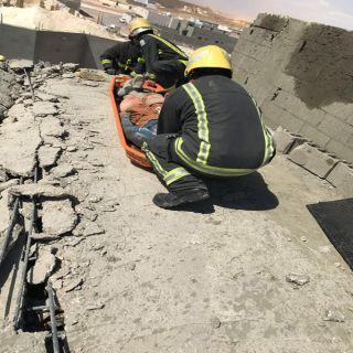 وفاة وإصابتين في إنهيار سقف مبنى تحت الإنشاء بحي المروج بـ #عرعر