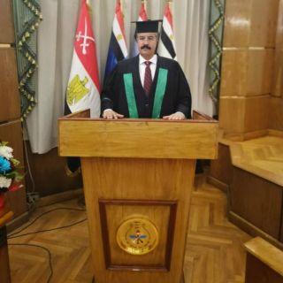 """للواء طيار ركن""""الأسمري"""" يحصد درجة الدكتوراه في الفلسلفة القومية من القاهرة"""