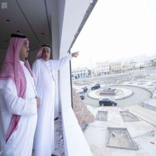 أمير منطقة نجران بالنيابة يتفقد مشروع متحف نجران الإقليمي