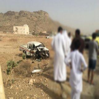 وفاة طالبين وإصابة ثلاثة أخرين بحادث مروري بطريق #بارق - محايل