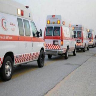 الهلال الأحمر ينقل ويعالج ثمان اصابات في حادث سير بالرياض